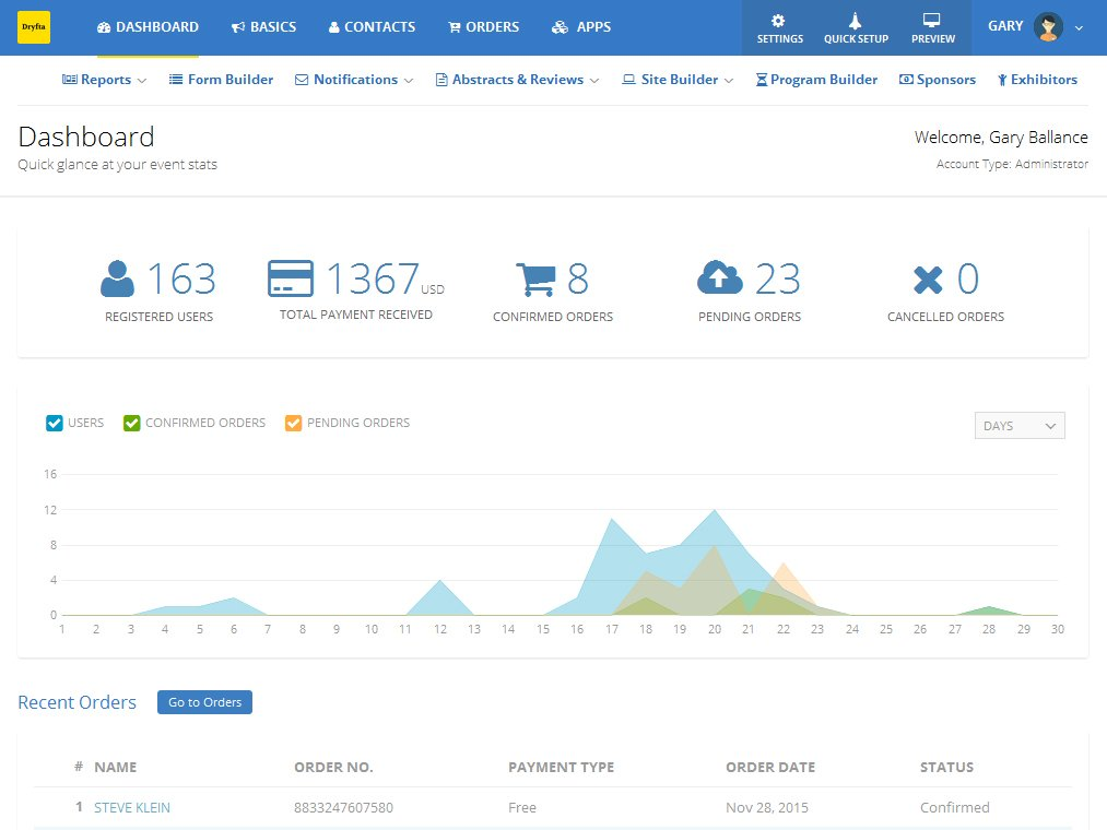 Event Platform Dashboard