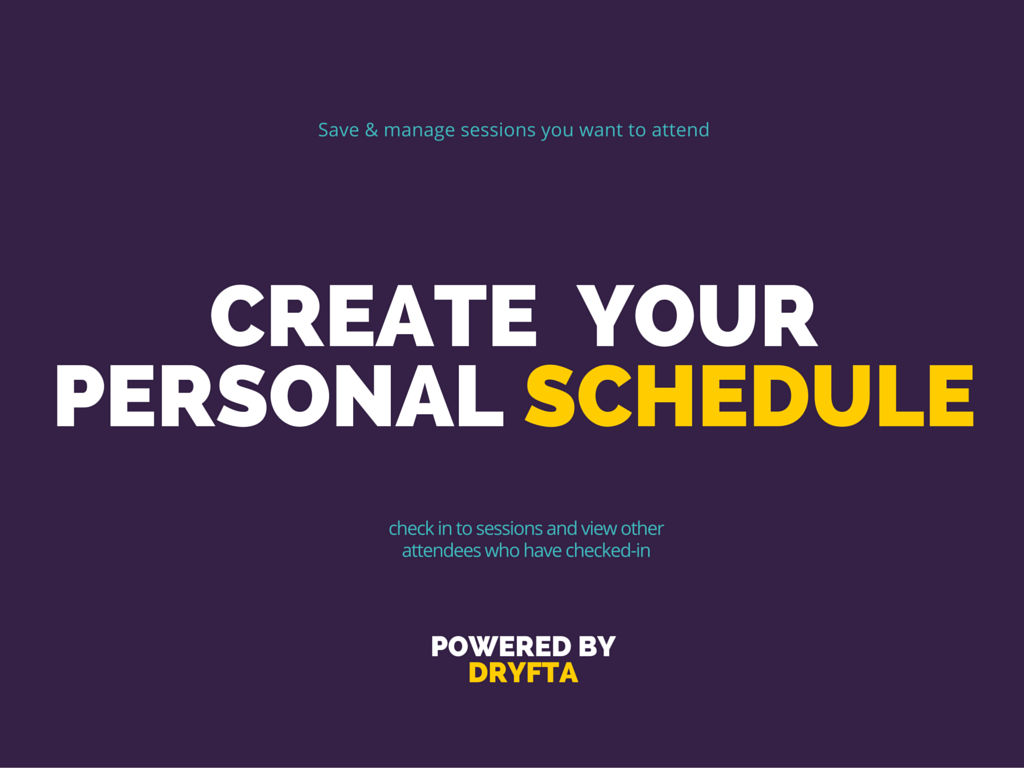Create your personal schedule