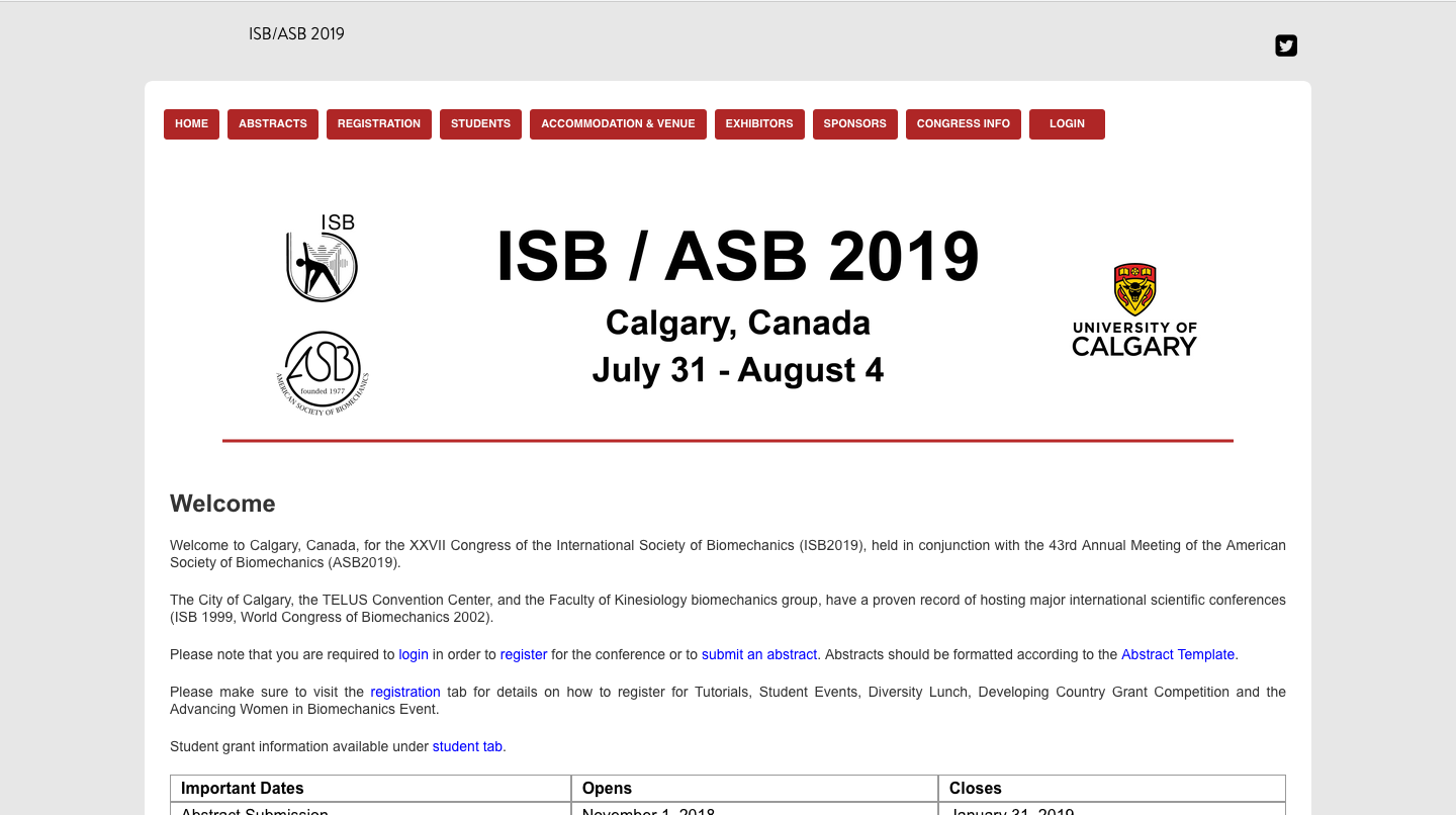 International Society of Biomechanics